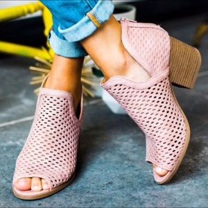 EMMA perforated ankle bootie